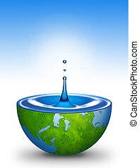 víz, világ