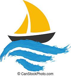 víz, vitorláshajó