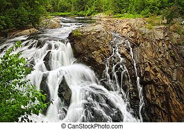 vízesés, alatt, északi, ontario, kanada