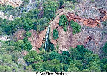 vízesés, alatt, drakensberg, blyde folyó, kanyon, afrika, mpumalanga, nyár, táj