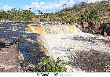 vízesés, alatt, venezuela