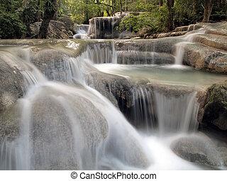 vízesés, noha, víz, folyó, mindenfelé