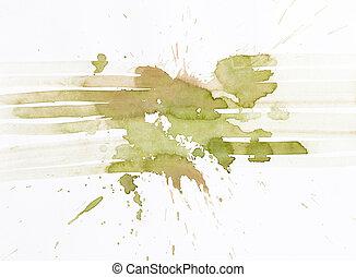 vízfestmény, absztrakt festészet