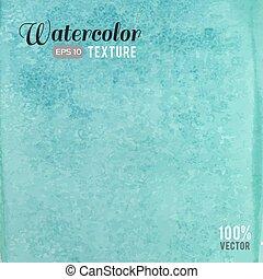 vízfestmény, türkiz, struktúra