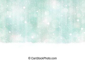 vízszintesen, bokeh, tél, háttér, seamless
