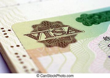 vízum, elzáródik