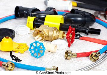vízvezeték szerelő, eszközök