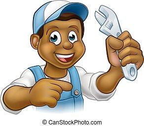 vízvezeték szerelő, ezermester, vagy, szerelő