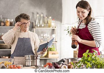vó, leitura, receita, cookbook