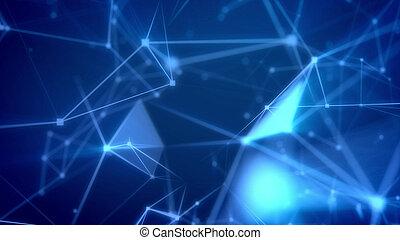 vôo, através, a, ciberespaço, abstratos, rede