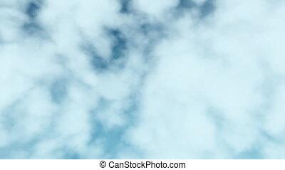 vôo, através, nuvens