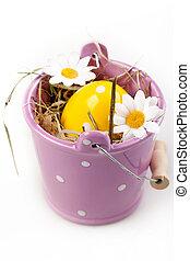 vödör, tojás, húsvét
