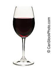 vörös bor, alatt, pohár