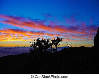 východ slunce, od, haleakala