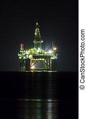 výkonný drilling, rampa