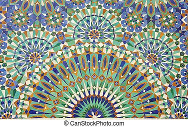 výzdoba, maroko, casablanca, orientální, mozaika