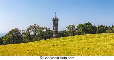 věž, republika, -, jara, čech, prichovice, maják, lookout, ...