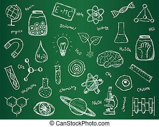 věda, chemie, grafické pozadí