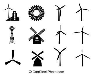větrný mlýn, ikona