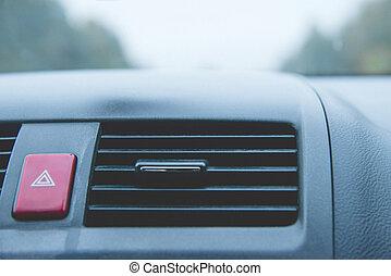 vůz, červeň, sport, emergency knoflík, clona
