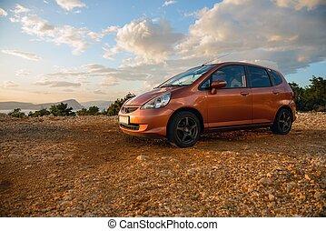 vůz, moderní, dynamický, názor