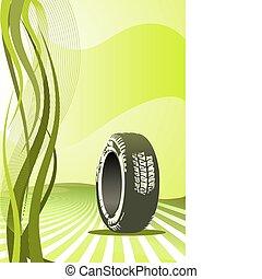vůz, vektor, design, grafické pozadí