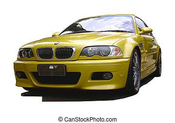 vůz, zlatý, sportovní