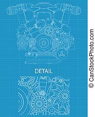 v, 引擎