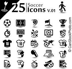 V,  01, futebol, ícones