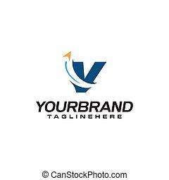 v, business, logo, voyage, flèche, lettre b, initiale, forme, gabarit