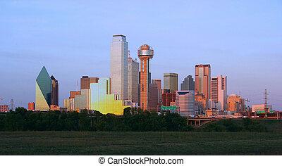 v centru města, dallas, texas
