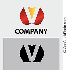 V company vector logo and symbol