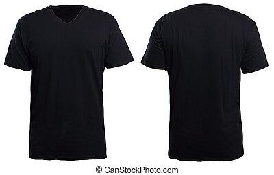 v-cou, chemise noire, railler, haut