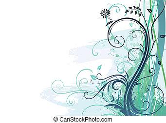 Grunge Floral Background - V illustration of Grunge Floral ...