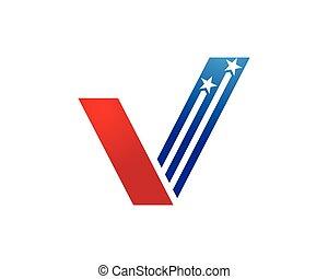 V Letter Logo Template - V Letter Logo Business Template...
