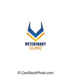V letter vector icon for veterinary clinic - Veterinary ...
