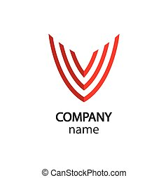 V logo illustration design
