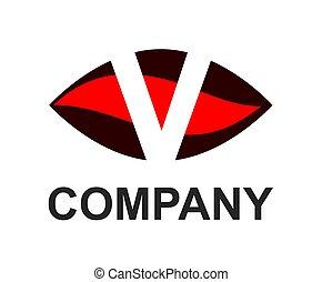 v logo in oval