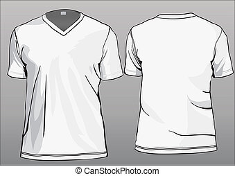 V-neck short sleeves