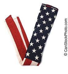 v-signs, drapeau, américain, formulaire