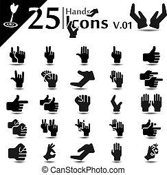 v.01, hand, iconen