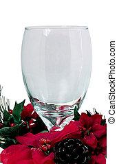 v1, karácsony, talpas pohár