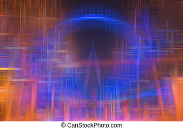vaag, abstract, kleurrijke, achtergrond