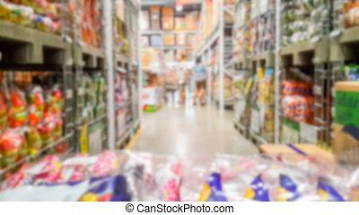 vaag, supermarkt