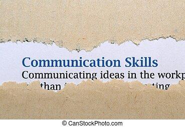 vaardigheden, communicatie