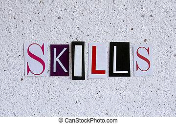 vaardigheden, concept