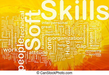 vaardigheden, concept, zacht, achtergrond