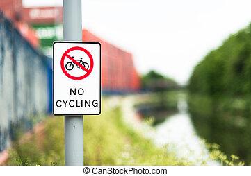 vaart, cycling, nee, volgende, steegjes, meldingsbord