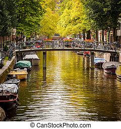 vaart, in, amsterdam