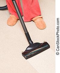 vacío, ama de casa, alfombra
